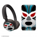 Philips headphones and case - lucha libre